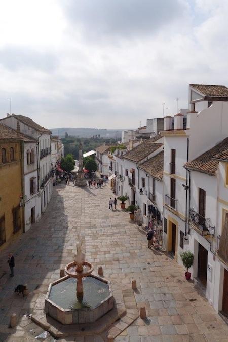 Uitzicht vanuit ons appartement in Córdoba
