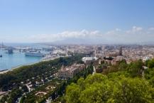 Málaga, uitzicht vanaf Castillo de Gibralfaro