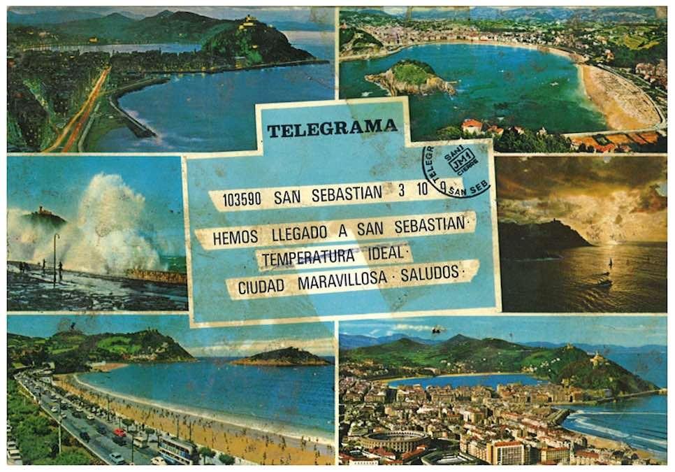 Telegram uit San Sebastian, Baskenland