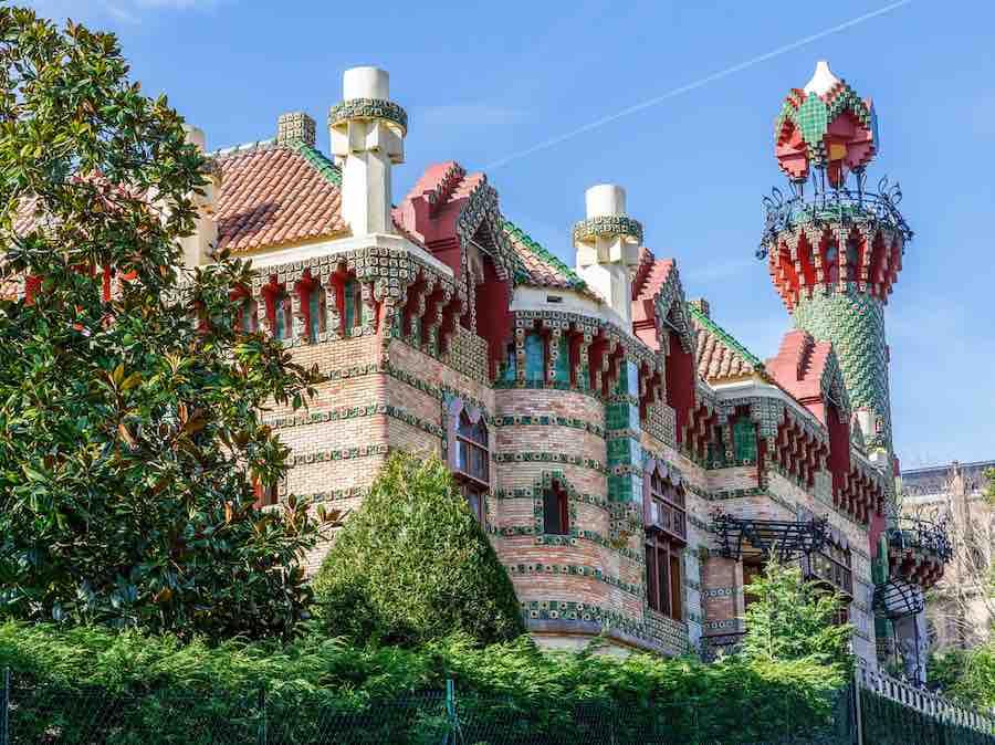 Het Capricho paleis van Gaudí in  Comillas