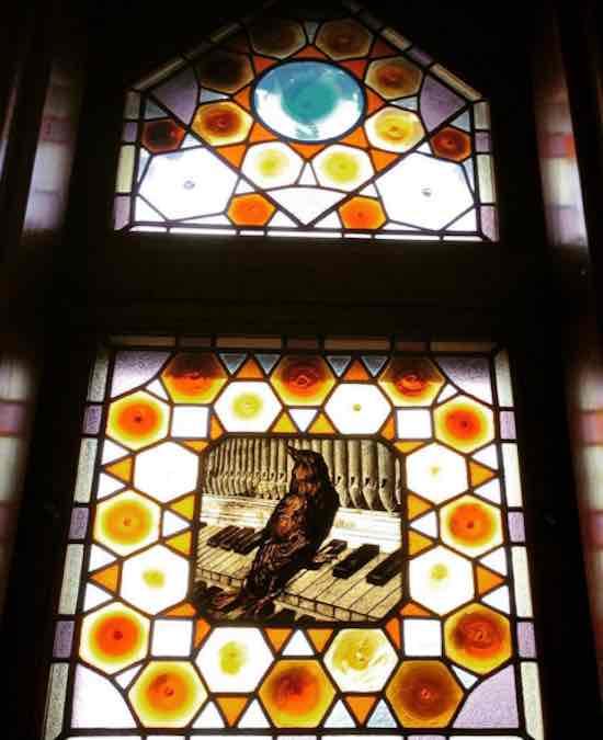 Detail in het Capricho paleis van Gaudí in  Comillas