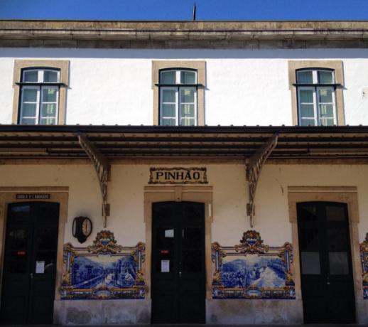 Treinstation Pinhao aan de Douro, Portugal