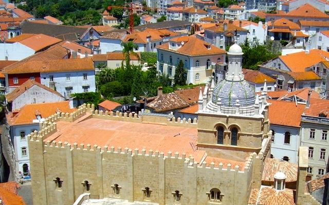 Zicht op Coimbra
