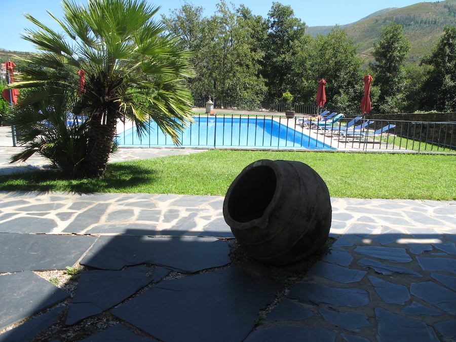 Patio en omheind zwembad