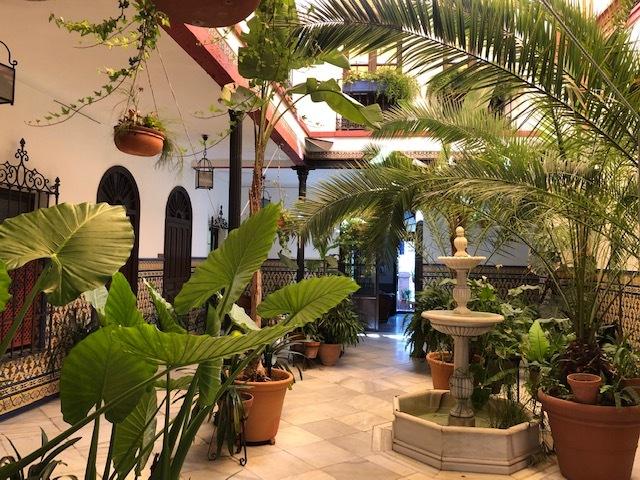 Patio van ons hotel in Córdoba