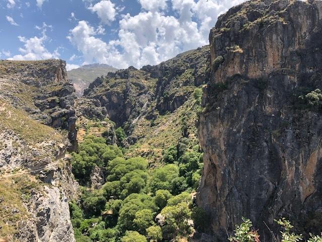 Wandeling vanuit het hotel bij Granada