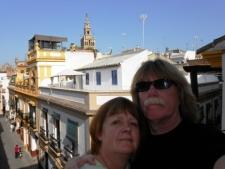 Ed en Marianne in Sevilla