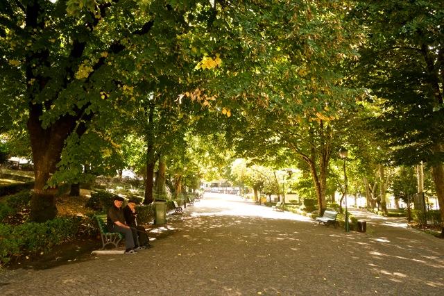 In het park van Castelo de Vide
