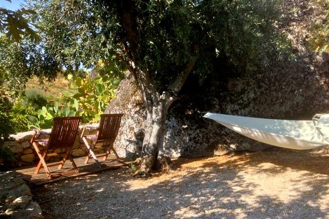In de tuin op de Quinta bij Castelo de Vide