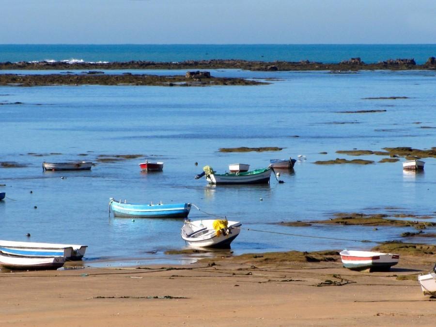 Bootjes op de Caleta in Cádiz