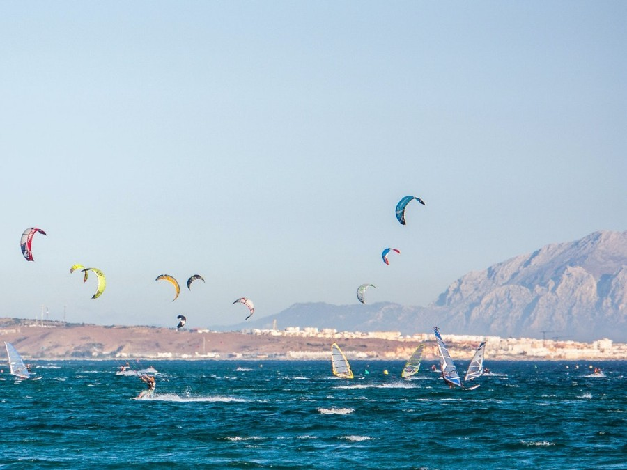 Kitesurfen bij Tarifa
