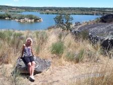 Yvonne bij Barragem de Povoa da Meadas