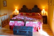 slaapkamer van het huisje