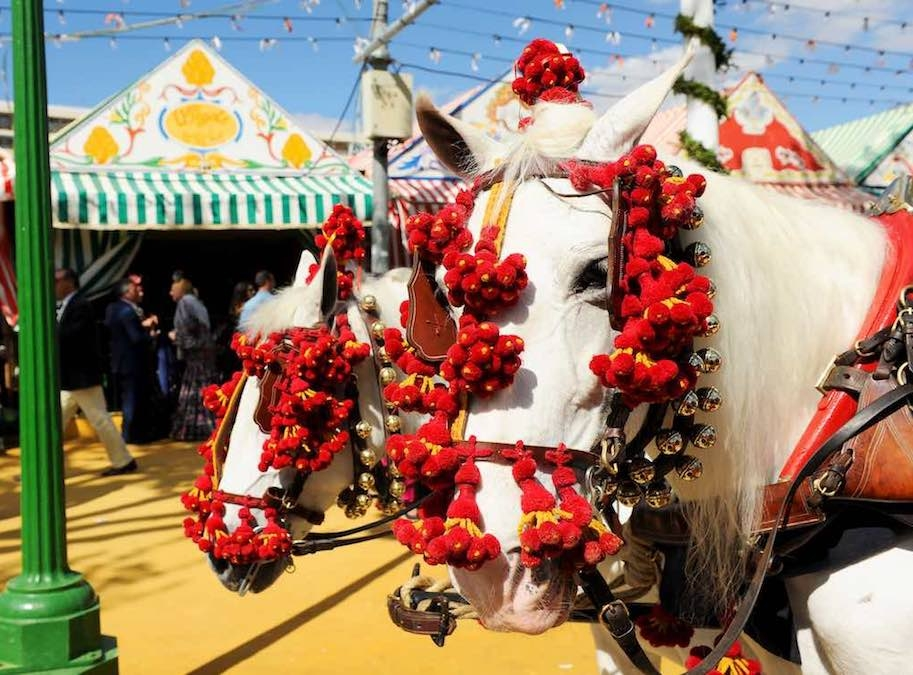 Feria del Caballo in Jerez in mei