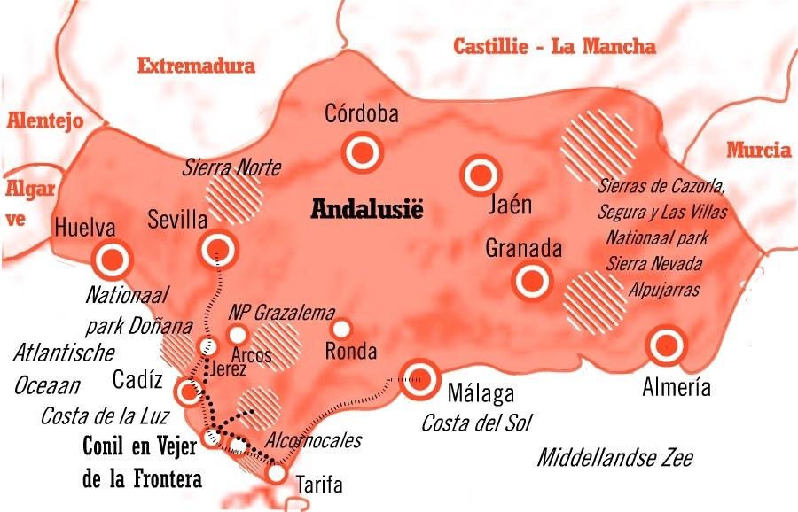 Locatie schildervakantie Andalusie aan de Costa de la Luz