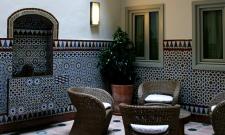 Patio hotel Santa Cruz, receptie van de appartementen