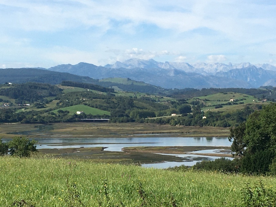 Cantabrië met de Picos de Europa op de achtergrond