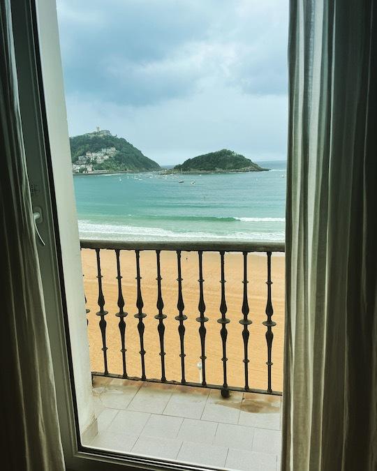 Uitzicht vanuit de hotelkamer